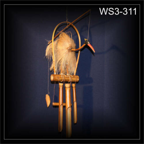 Carillon avec wackelhals oiseau sur bambusstab à la main deco cadeau ws3-311