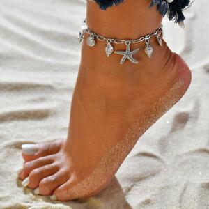 Stylish-Alloy-Silver-Boho-Starfish-Pendant-Ankle-Anklet-Bracelet-Barefoot-Sandal