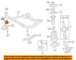 Toyota Oem 04 18 Sienna Suspension Delantera Motor Cuna Aislador Izquierda 5221708010 Ebay