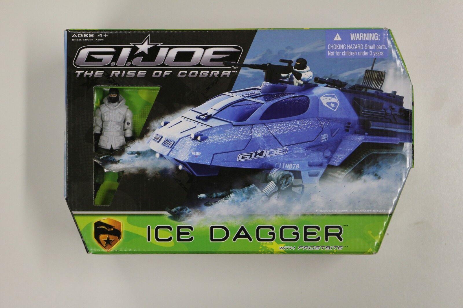 G.I. Joe Ice Dagger with Frostbite Rise of Cobra Movie Vehicle