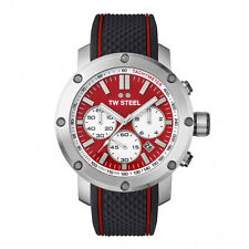 TW STEEL TS1 Mens Grandeur Tech Red Chronograph Watch w/ Date