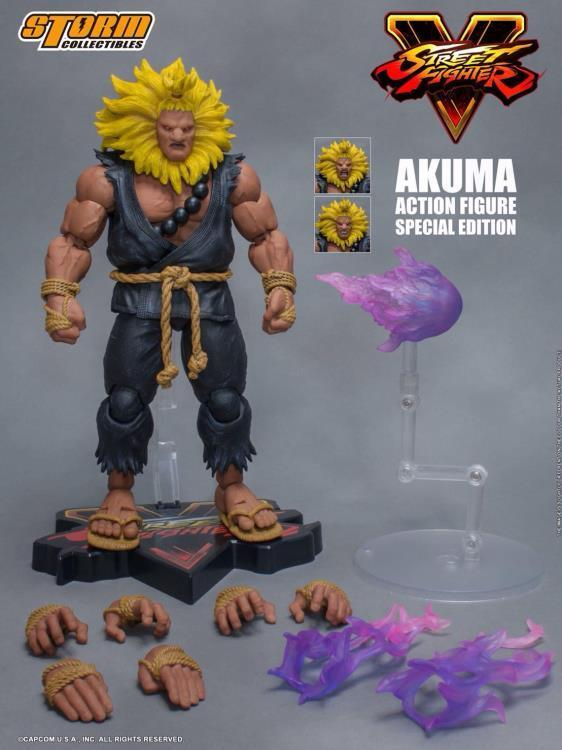 STM87052  Storm Collectable Street Fighter V Akuma Action Figure Special Edition