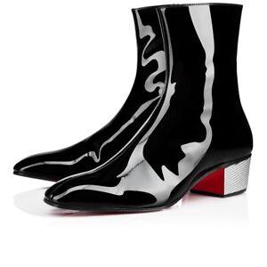83ec5af88b7f NIB Christian Louboutin Palace Boot Donna 40 Black Patent Leather ...