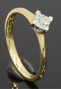 18CT-Yellow-Gold-Princess-Cut-Diamond-Solitaire-Ring-0-28ct-Size-N-01-21-058