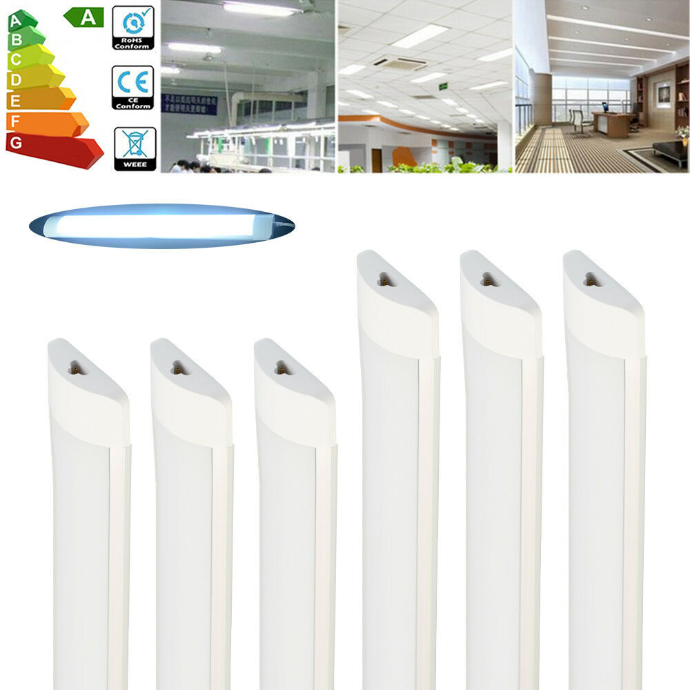 4x LED Linkable Batten Tube Light 4FT 1200mm 36W Cool Weiß Ceiling Panel Lamps