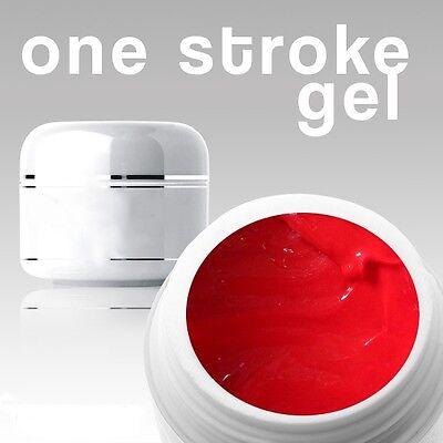 4 ml/3D/ ONE STROKE FARBGEL***fire red**ANGEBOT FÜR KURZE ZEIT**