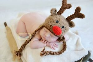 b9961dc5b650a Image is loading Crochet-Rudolph-the-Red-Nose-Reindeer-hat-Baby-