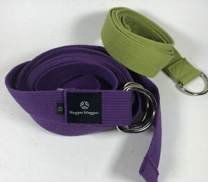 Hugger Mugger Cotton Strap with Cinch - 10ft And Gaia 6 Ft.  Purple And Green