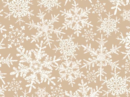 """1 Unit Christmas Snowflake 24/""""x417/' kraftRoll Gift Wrap Unit pack 1"""