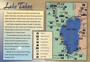 Details about Lake Tahoe, California & Nevada, Information, Airport on sierra mountains california map, lake mead map, shasta lake california map, el dorado county california map, harvey's tahoe seating map, long beach california map, alameda california map, mono lake california map, sacramento california map, silverwood lake california map, truckee map, palm springs california map, sequoia national park california map, reno-tahoe map, san jose california map, lassen peak california map, lewiston lake california map, tahoe rim trail 100 map, big sur california map, california nevada map,