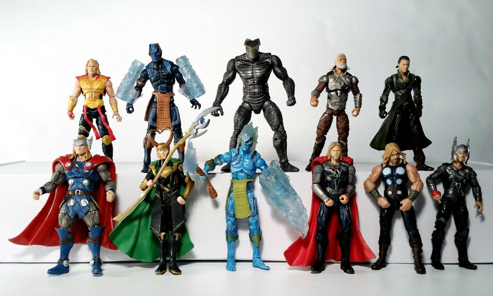 Marvel Universe 3.75   Huge Lot of 11 Thor Loki Odin Asgard Action Figures Hasbro  différentes tailles