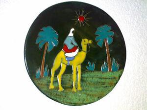 Wandteller-Wall-Plate-Beduine-Kamel-Camel-50s-60s-Space-Age-Mid-Century-Era