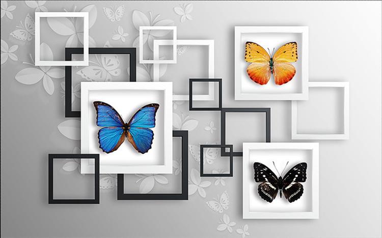 3D Schmetterling Rahmen 83 83 83 Tapete Wandgemälde Tapete Tapeten Bild Familie DE | Louis, ausführlich  | Outlet  | Einfach zu bedienen  824c33