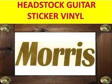 MORRIS GOLD AUFKLEBER STICKER HEADSTOCK VISIT MY STORE GUITAR & BASS CUSTOM