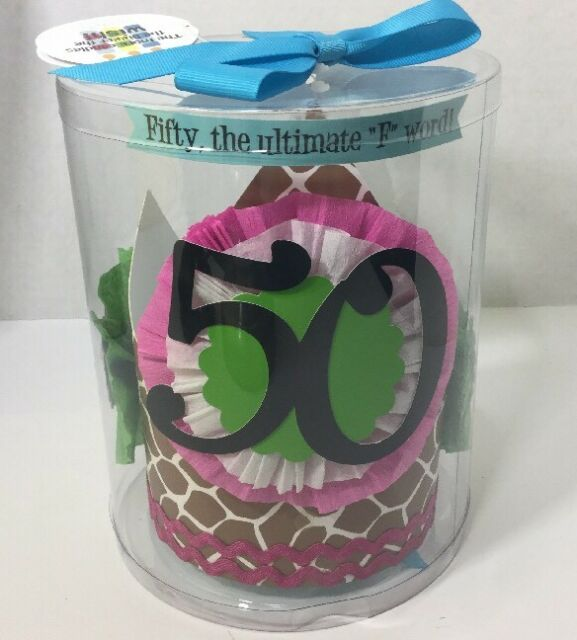 Mud Pie Fiftieth Birthday Hat Happy Party 50 F Word