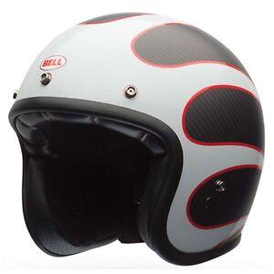 Bell-Custom-500-CARBON-Motorcycle-Helmet-Ace-Cafe-Ton-Up-FREE-PEAK-VISOR