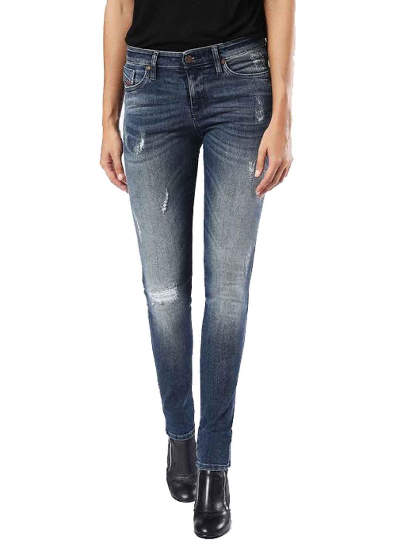 Diesel Skinzee 0677F women Pantalones Vaqueros Ajustados Super Slim