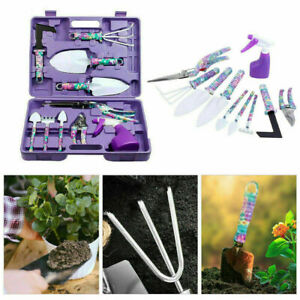 10 Pieces Garden Tool Set Gardening Tools Gift Kit Non-slip Handle With Case