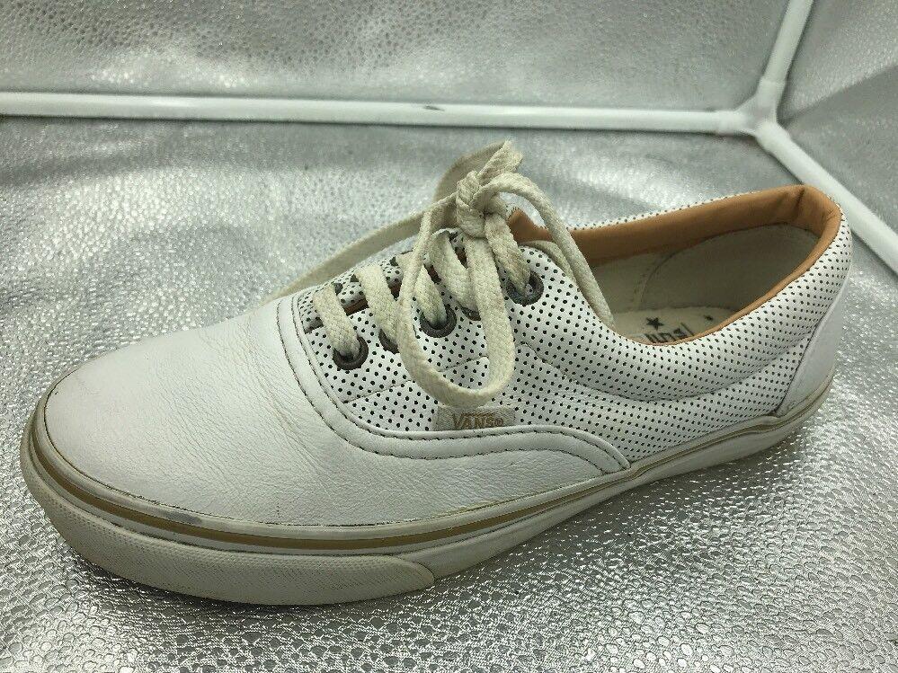 Vans in Pelle Bianco 7.5 41 Lacci Da Skateboard Scarpe Da Ginnastica Da Lacci Donna Unisex 10b431