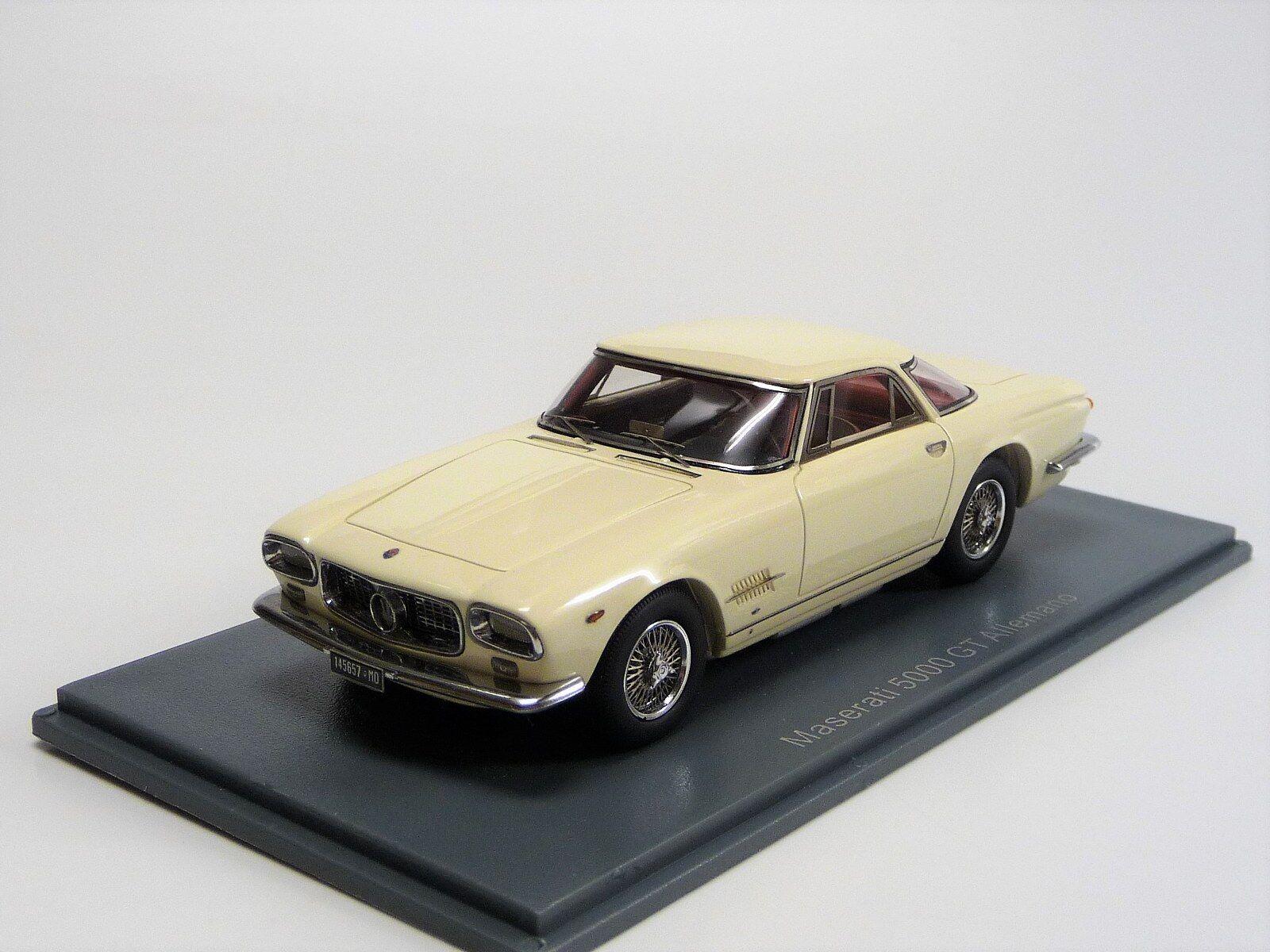 Maserati 5000 GT ALLEMANO Beige neo45657 New in Original Box 1 43