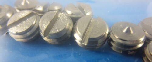 10 Stück Werzalit Gewindestift M 10 x 5 mit Schlitz und Spitze Edelstahl