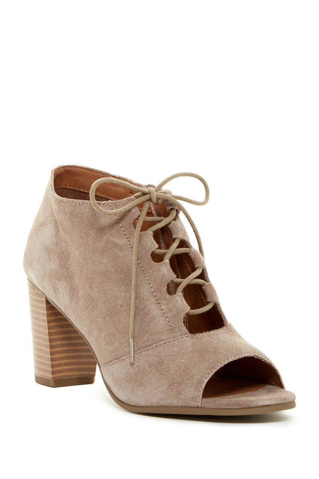 Susina Taupe Shay Lace Peep Toe Suede Ankle Ankle Ankle Boots Booties Sz 9M 99492f
