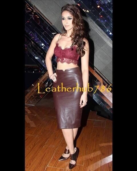Sexy Skirt New Genuine Lambskin Burgundy Leather Women Pencil Party Wear 149