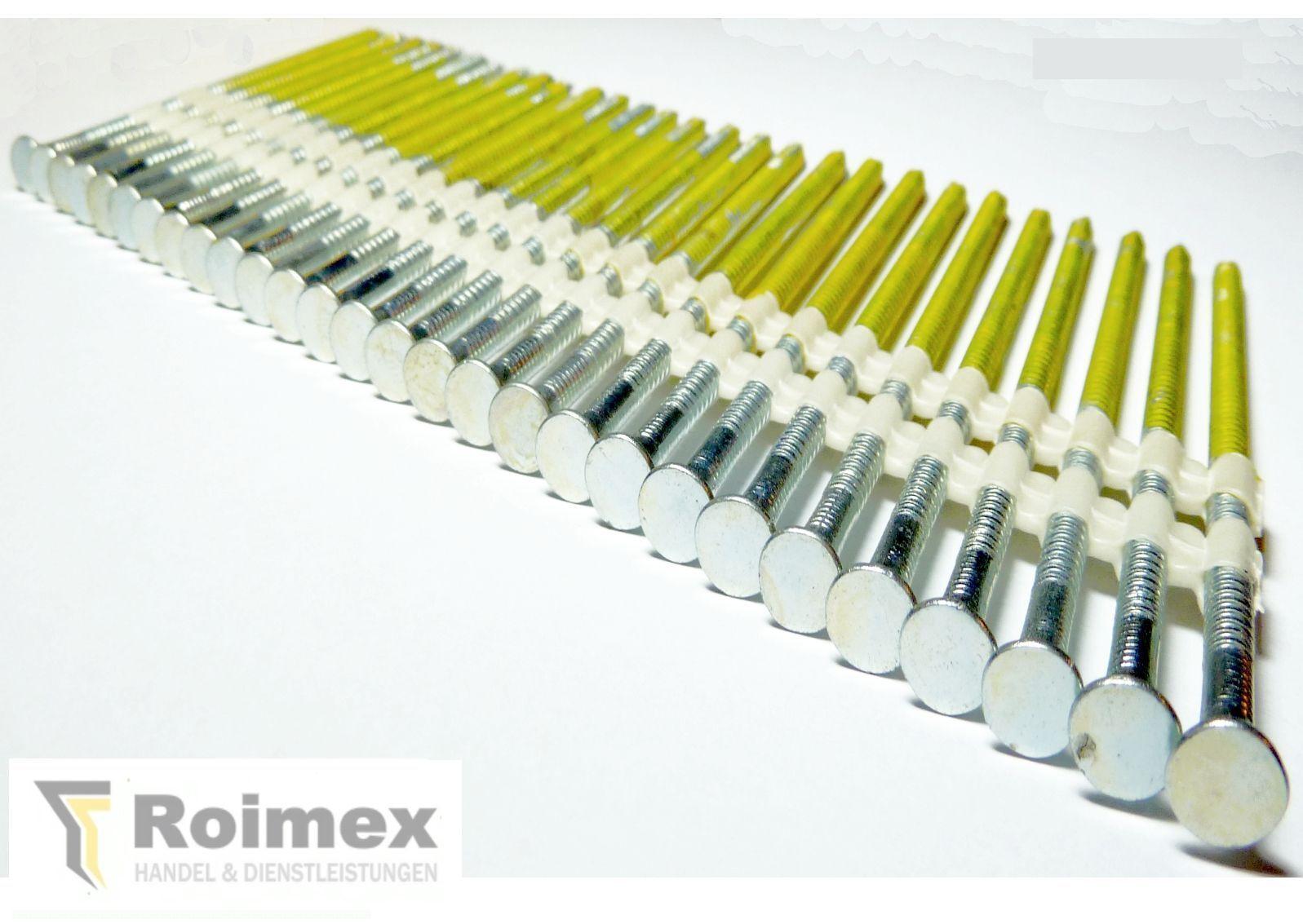 1500 Streifennägel 20-22° 4,2x130mm Kunststoffgeb.blank glatt zertifiziert