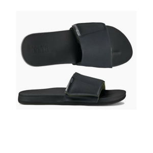 Mens Reef Cushion Bounce Mens Slide Black Sandal Flip Flop