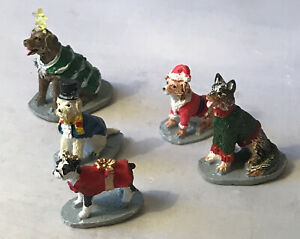 Lemax Village Accessory ~ Costumed Canines (Set of 5) ~ NEW NO BOX
