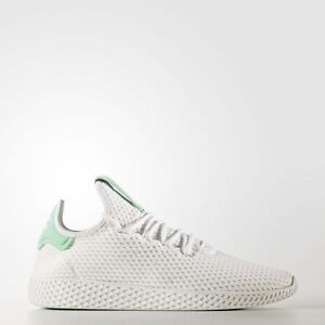 a87dc44f4 Adidas Originals x Pharrell Williams PW Tennis Hu White Green human ...