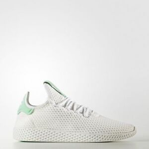 cfa258b52bb0c Adidas Originals x Pharrell Williams PW Tennis Hu White Green human ...
