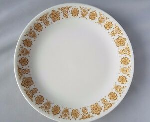 Image is loading Corelle-By-Corning-Ware-White-Gold-Butterfly-10- & Corelle By Corning Ware White Gold Butterfly 10.5