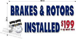 2-039-X-4-039-VINYL-BANNER-BRAKES-ROTORS-CUSTOM-PRICE-AUTO-REPAIR-SHOP