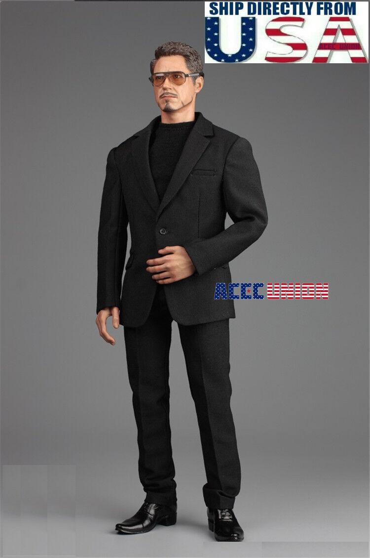 1 6 Men Business Suit Sunglasses shoes Set For 12  Hot Toys PHICEN Male Figure