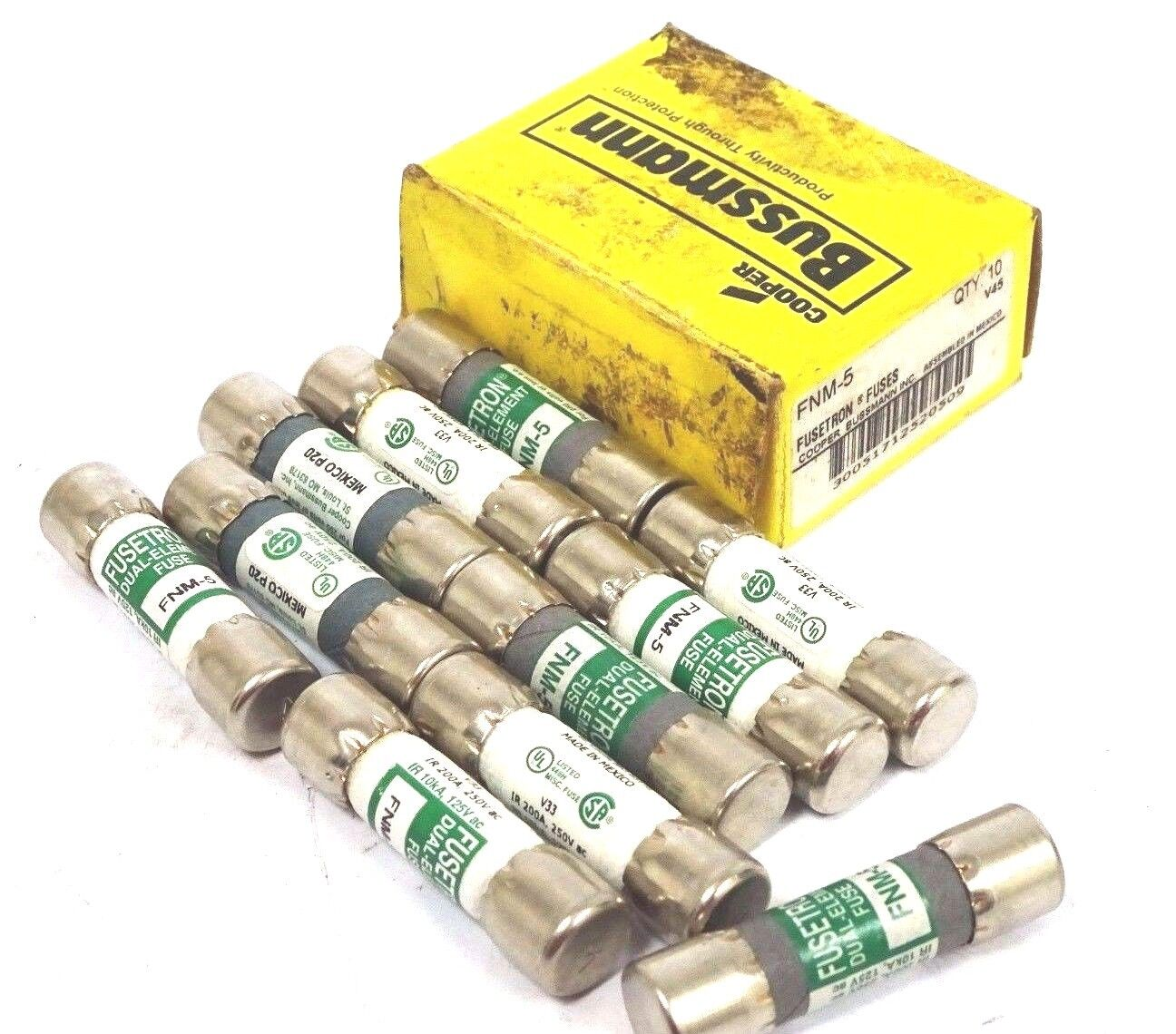 LOT OF 21 NEW COOPER BUSSMANN FNM-5 FUSES