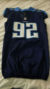 Tennessee Titans Authentic Team Issued Player Jersey 92 Size 44 Ebay