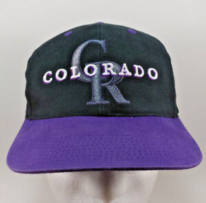 Details about Colorado Rockies Vintage Snapback Hat Cap MLB Baseball