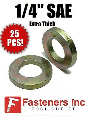 1//4 Grade 8 SAE Extra Thick Flat Washers for Sprint Midget Mini 25 Pieces