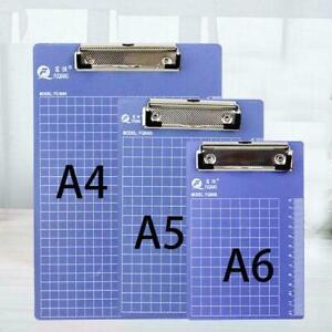 3-Groessen-Blau-Klemmbrett-Schreibtafel-Klemmbrett-Buero-Schulbedarf-Schreibwa-U7O2