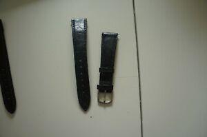 bracelet montre noir 18mm