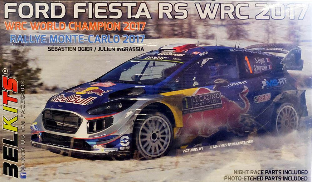 Ford Fiesta Rs Rs Rs WRC 2017 Montecarlo Ogier Ingrassia 1 24 Modelo Conjunto Belkits e37