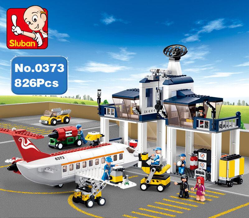 Spielzeug B0373  Plane Airbus Flugzeug Wartungsbasis Centre Werkstadt Baukästen