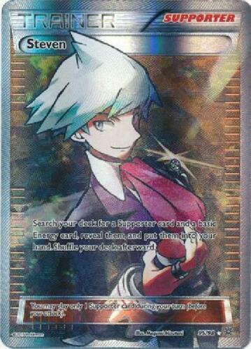 Full Art Ultra Rare PL Pokemon XY Ancient Origins Steven 95//98