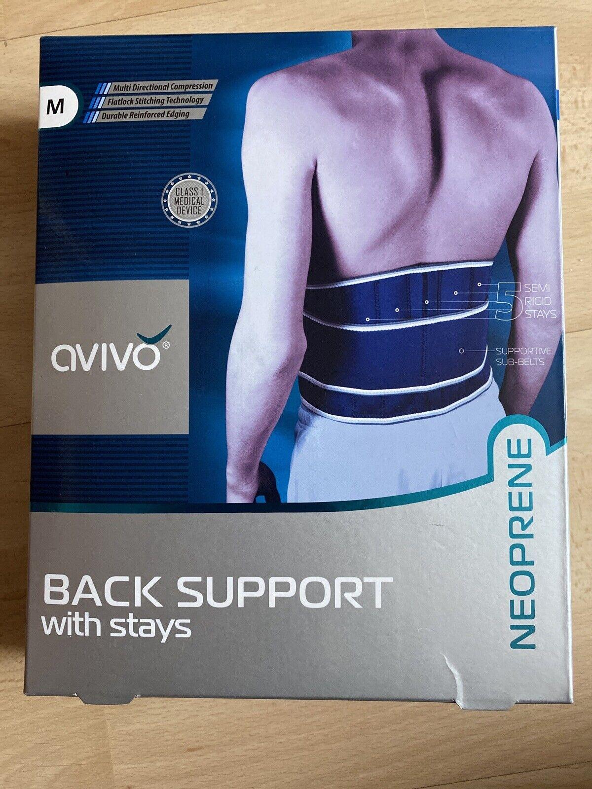 Avivo Neoprene Back Support Back With Stays