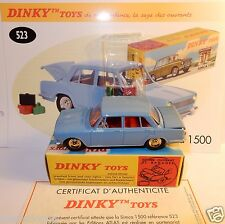 DINKY TOYS ATLAS SIMCA 1500 BLEU CLAIR avec BAGAGES 1/43 REF 523 IN BOX