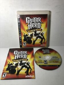 Guitar Hero: World Tour (Sony PlayStation 3, 2008) PS3 Complete CIB Tested