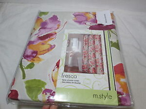Image Is Loading NEW M Style Fabric Shower Curtain 72x72 FRESCA