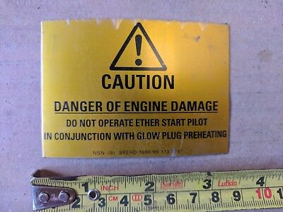 Other Agriculture & Forestry Agriculture & Forestry Obliging Hydrema Stick On Engine Warning Decal