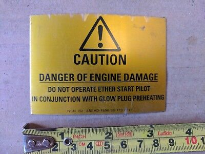 Obliging Hydrema Stick On Engine Warning Decal Business & Industrial Agriculture & Forestry